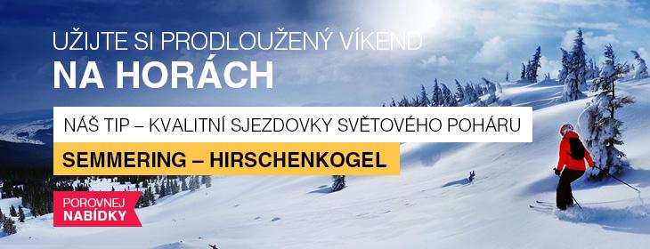 Lyžování na Semmeringu - tip na víkendové lyžování v Rakousku
