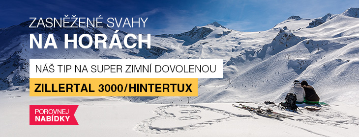 Zillertal 3000/Hintertux - celoroční lyžování v Alpách