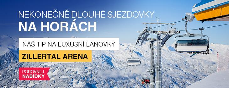 Lyžařské středisko Zillertal Arena - více než 600 km sjezdovek